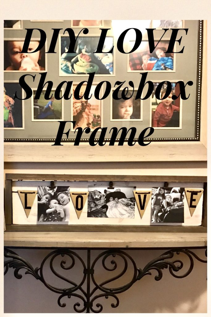 DIY Farmhouse Shadowbox Picture Frame