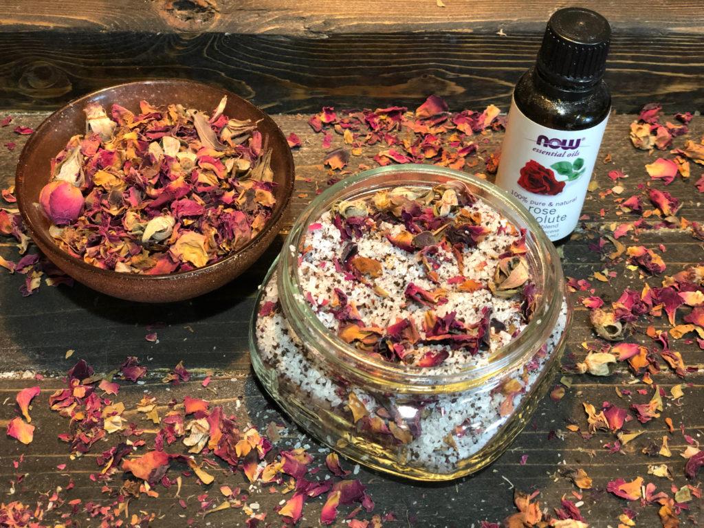 DIY Rose Petal Tea Soak FrugallyFantastic.com