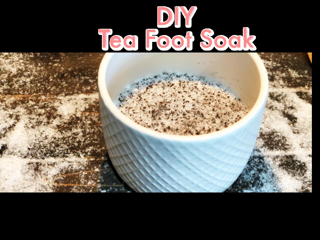 DIY Tea Foot Soak FrugallyFantastic.com
