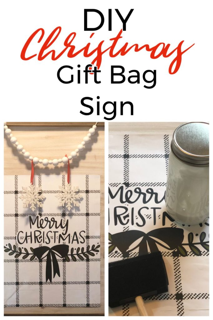 Hey guys, I'm back with a Christmas craft made with a Target Dollar Spot gift bag that cost less than $20 in supplies! This can be made in an afternoon! FrugallyFantastic.com
