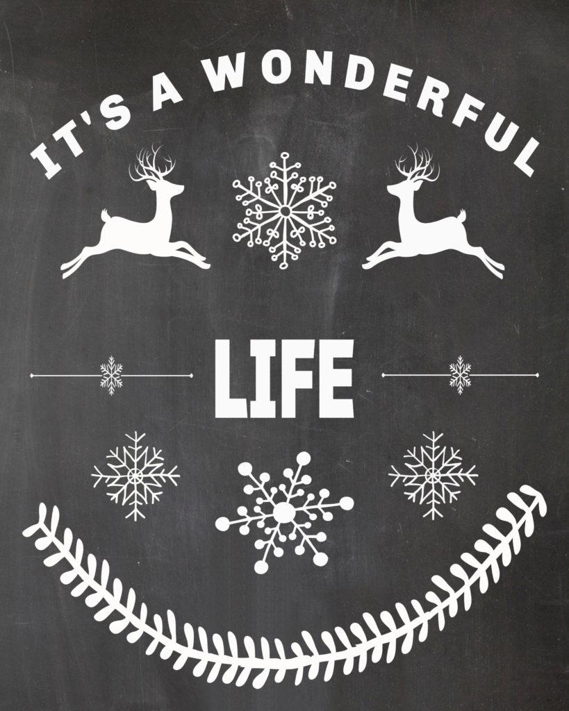 Free Christmas Printable-It's A Wonderful Life