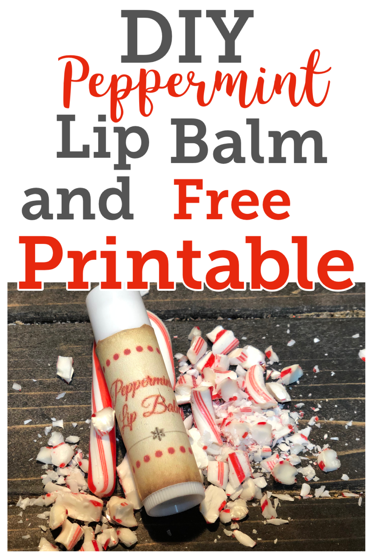 DIY Peppermint Lip Balm, make this homemade lip balm for the perfect Christmas gift that can be made right in your kitchen in a matter of minutes! FrugallyFantastic.com