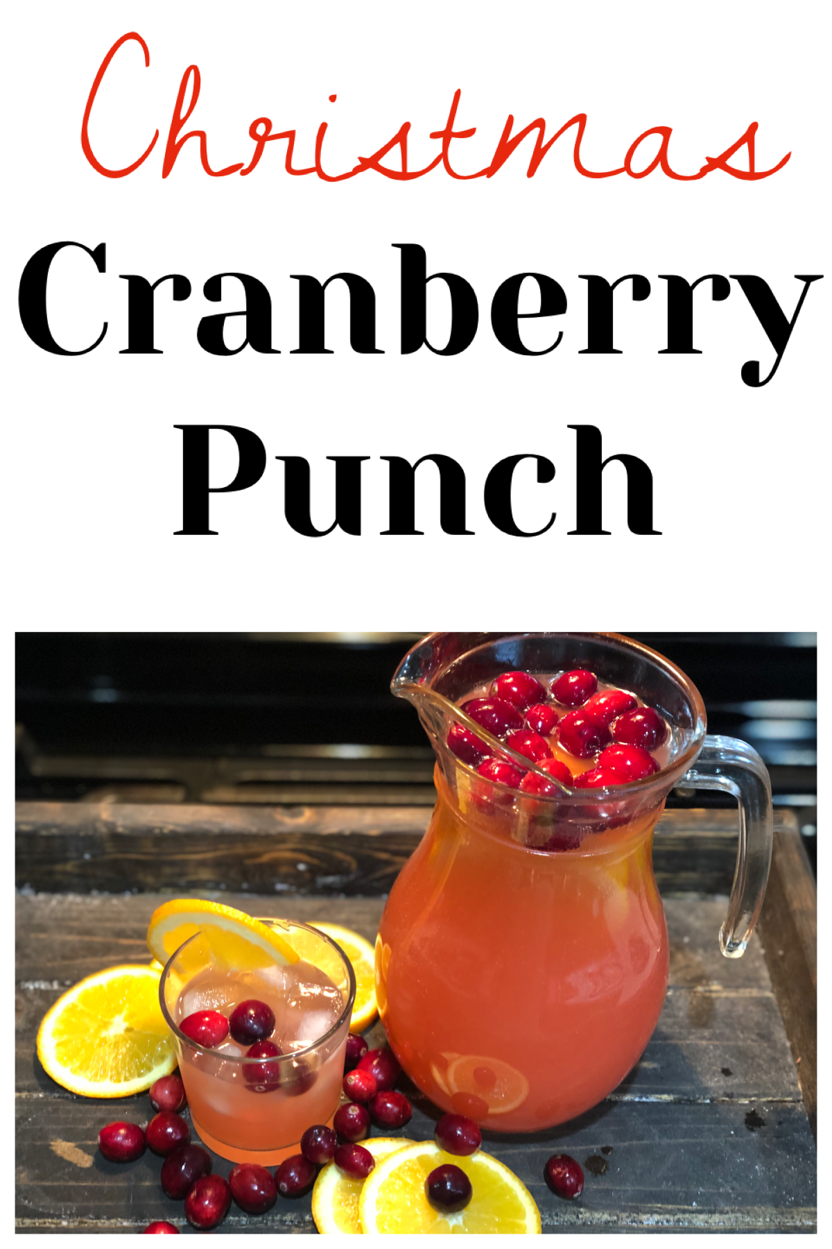 Christmas Cranberry Punch, this nonalcoholic drink is sure to be a hit at your next holiday party! FrugallyFantastic.com