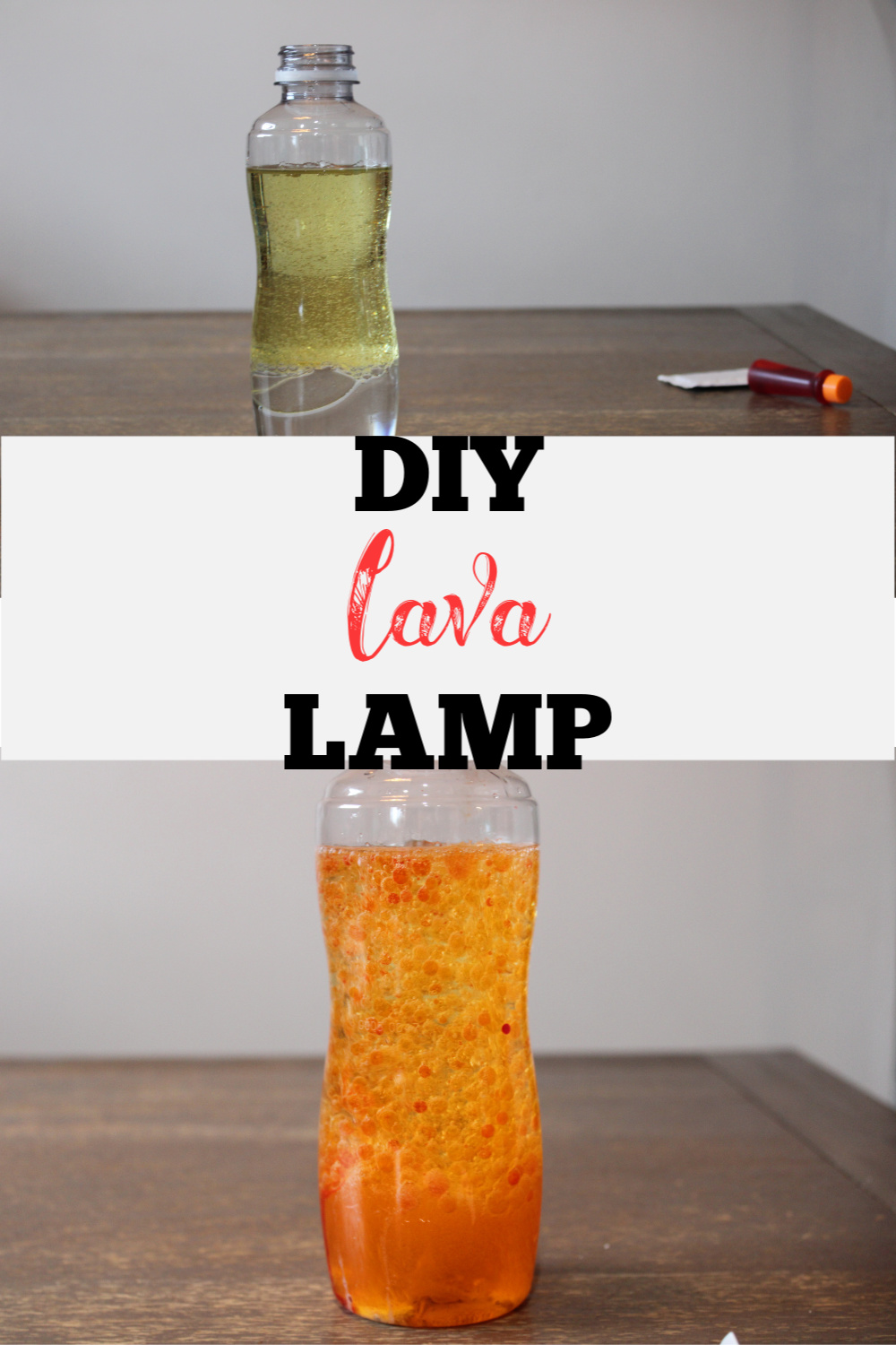 Hey guys, I'm back with another great and easy craft for the kids to make! This DIY Lava Lamp is sure to keep the kids entertained for hours!