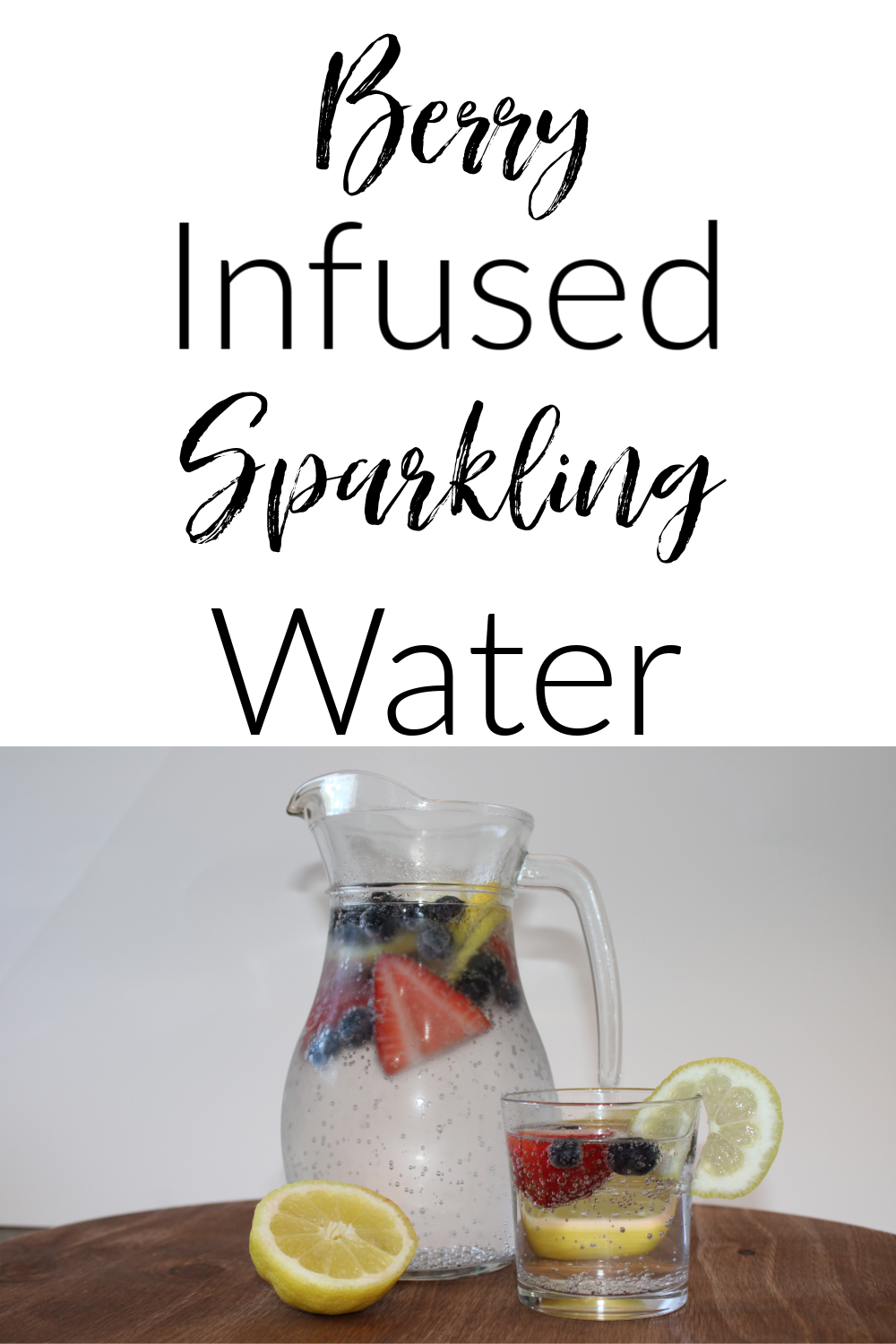 Hey guys, I'm back with another great drink recipe! This Berry Infused Sparkling Water is the perfect drink for hot summer days!