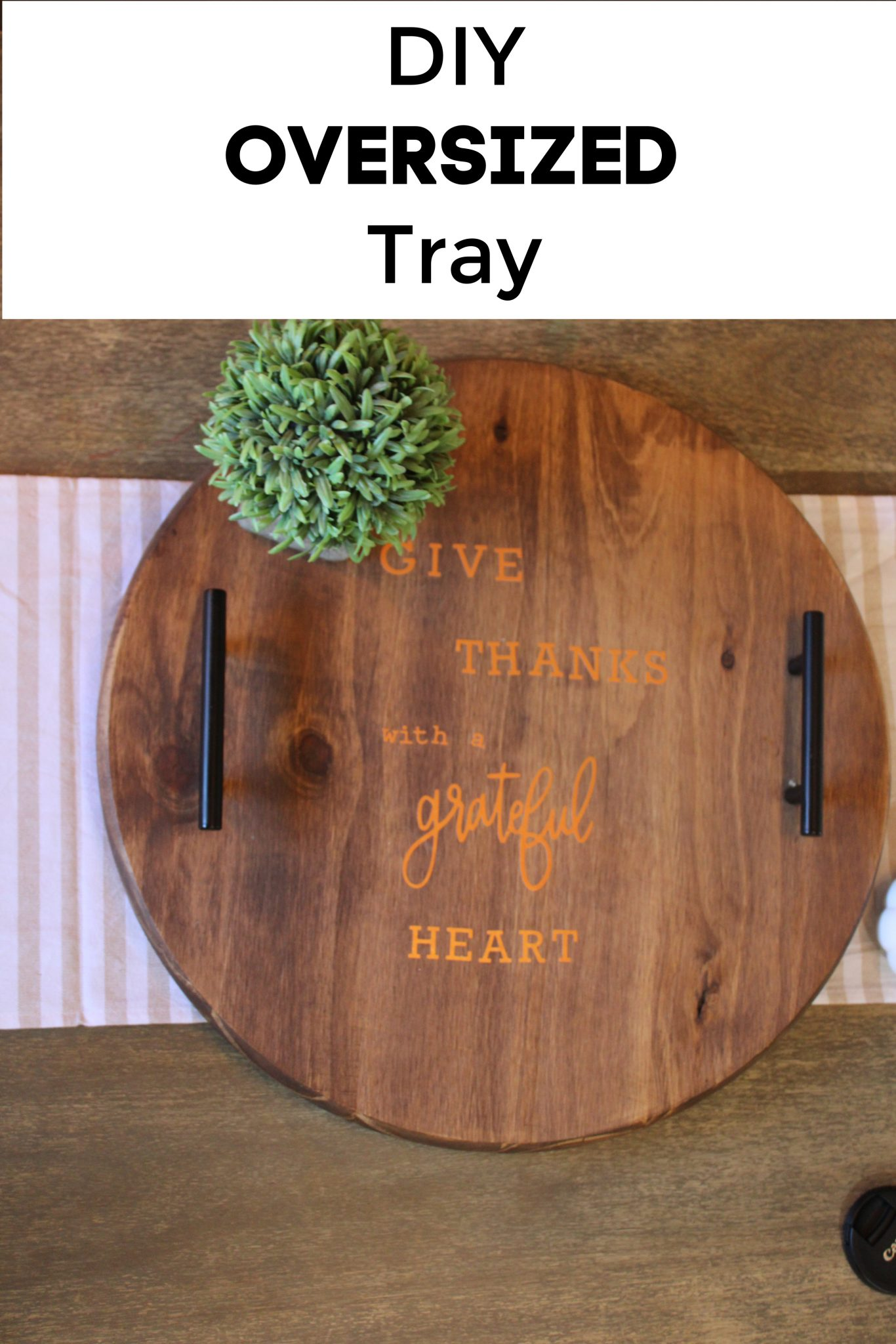 DIY Lazy Susan FrugallyFantastic.com