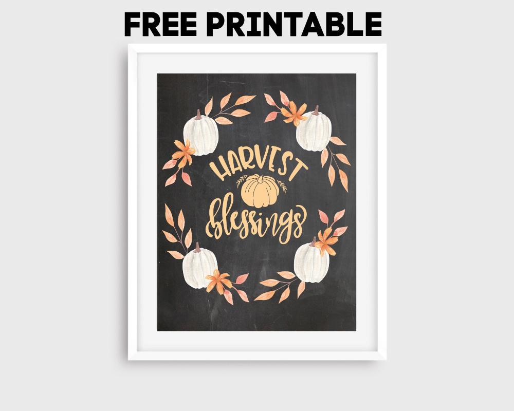 Free Fall Chalkboard Printable FrugallyFantastic.com
