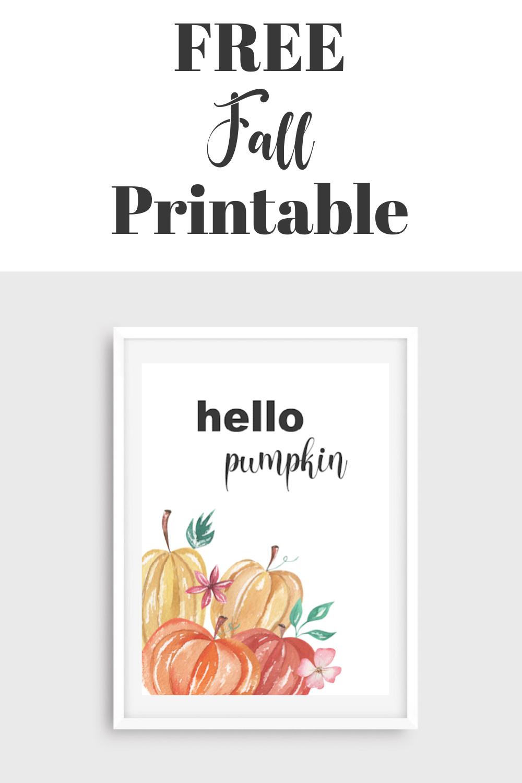 Free Fall Pumpkin Printable FrugallyFantastic.com