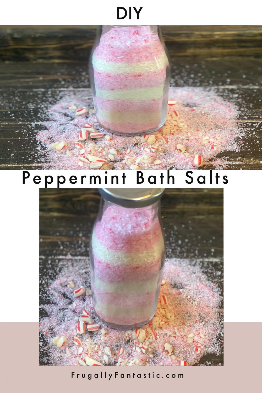 DIY Peppermint Bath Salts FrugallyFantastic.com