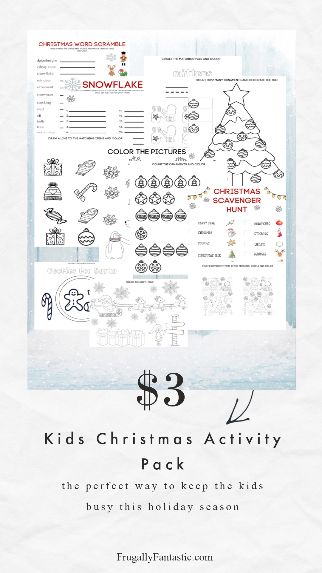 Kids Christmas Activity Pack FrugallyFantastic.com20