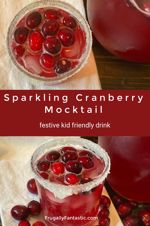 Sparkling Cranberry Mocktail FrugallyFantastic.com