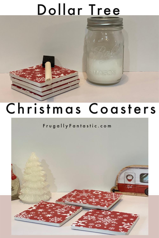 DIY Christmas Coasters FrugallyFantastic.com