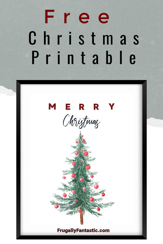 Free Christmas Watercolor Printable FrugallyFantastic.com