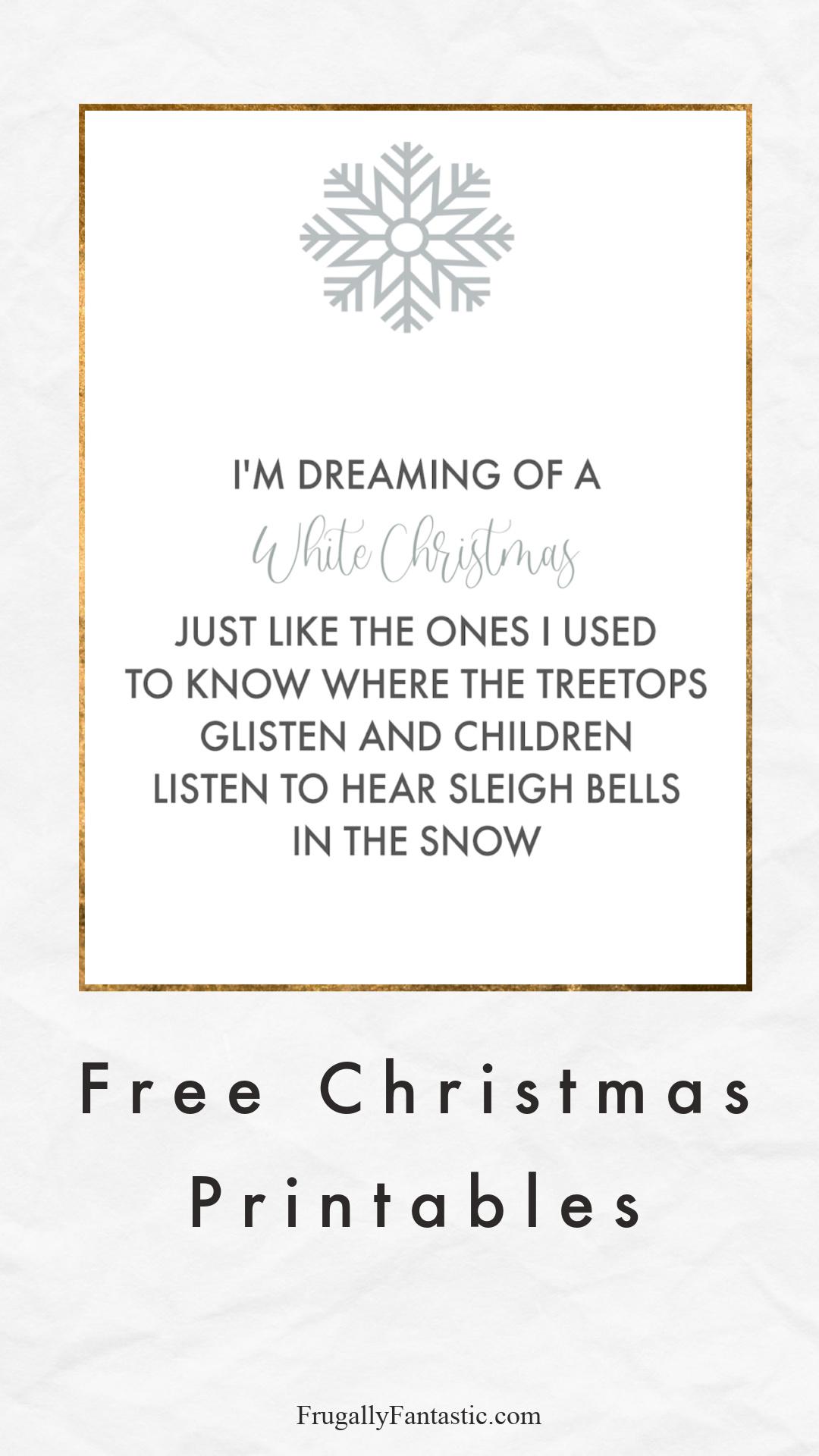 Free Christmas Art Print FrugallyFantastic.com