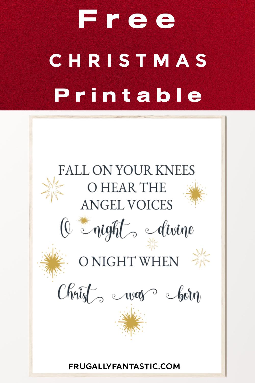Free Christmas Print FrugallyFantastic.com