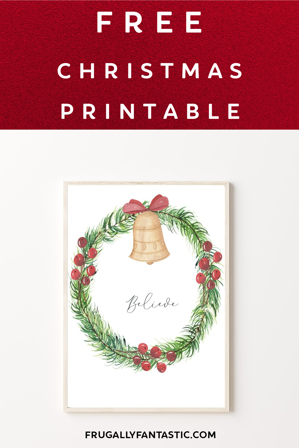 Free Christmas Watercolor Print FrugallyFantastic.com