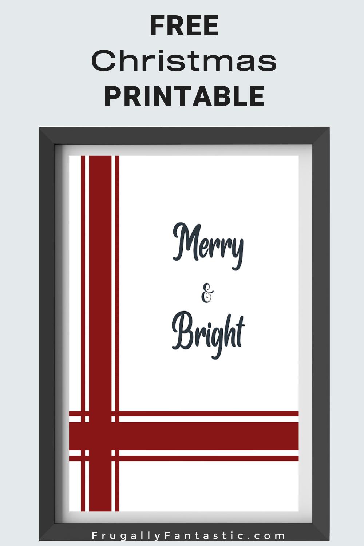 Free Farmhouse Christmas Print FrugallyFantastic.com