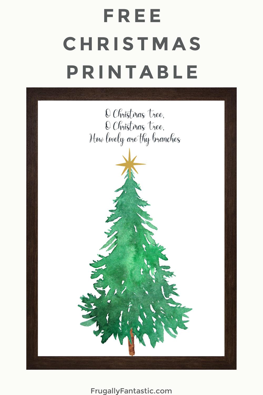 Free Christmas Art Printable FrugallyFantastic.com