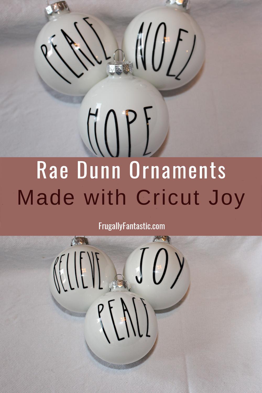 DIY Rae Dunn Inspired Ornaments FrugallyFantastic.com